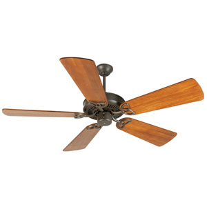 CXL Aged Bronze Ceiling Fan with 54-Inch Premier Distressed Teak Blades