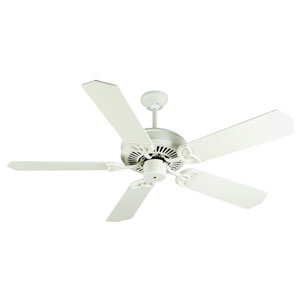 CXL Antique White Ceiling Fan with 52-Inch Standard Antique White Blades