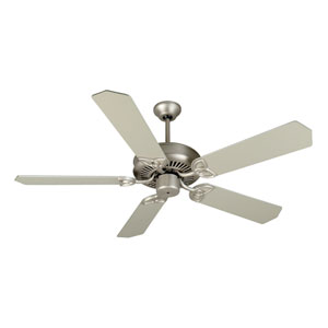 CXL Brushed Nickel Ceiling Fan with 52-Inch Standard Brushed Nickel Blades