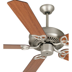 CXL Brushed Nickel Ceiling Fan with 52-Inch Standard Reversible Cherry/Rosewood Blades