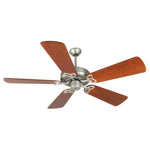 CXL Brushed Nickel Ceiling Fan with 54-Inch Premier Hand-Scraped Cherry Blades