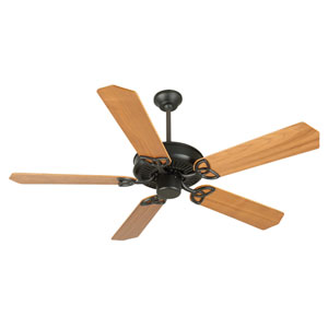 CXL Flat Black Ceiling Fan with 52-Inch Custom Wood Walnut Blades
