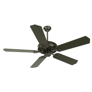 CXL Flat Black Ceiling Fan with 52-Inch Standard Flat Black Blades