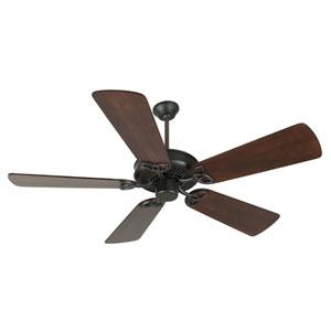 CXL Flat Black Ceiling Fan with 54-Inch Premier Distressed Walnut Blades