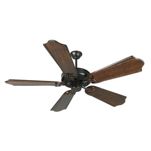 CXL Oiled Bronze Ceiling Fan with 56-Inch Custom Carved Classic Ebony Blades