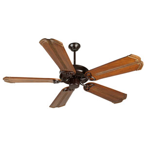 CXL Oiled Bronze Ceiling Fan with 56-Inch Custom Carved Chamberlain Oak Blades