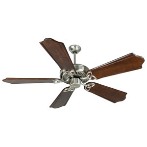 CXL Stainless Steel Ceiling Fan with 56-Inch Custom Carved Classic Ebony Blades