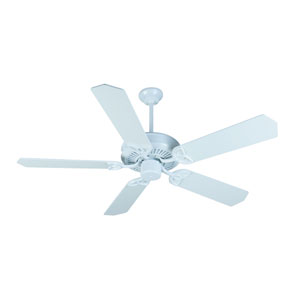 CXL White Ceiling Fan with 52-Inch Standard White Blades
