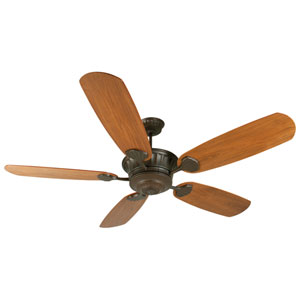 DC Epic Aged Bronze Ceiling Fan with 70-Inch Epic Walnut Satin Blades