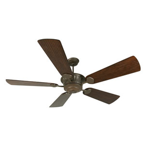 DC Epic Aged Bronze Ceiling Fan with 70-Inch Premier Hand-Scraped Walnut Blades