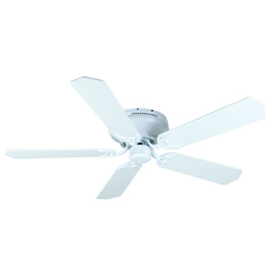 Contemporary Flushmount White Ceiling Fan with 52-Inch Standard White Blades