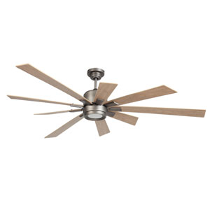 Katana Pewter 72-Inch LED Ceiling Fan with Nine Blades
