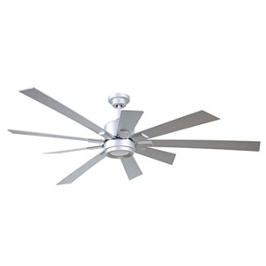 Katana Titanium 72-Inch LED Ceiling Fan with Nine Blades