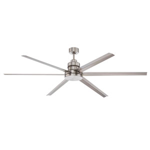 Mondo Brushed Polished Nickel 72-Inch Ceiling Fan with Six Blades