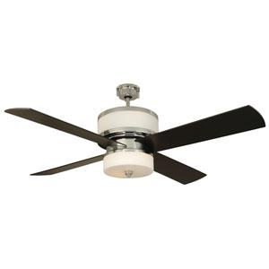Midoro Chrome 56-Inch Ceiling Fan