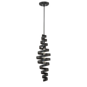 Matte Black 7-Inch One-Light Mini Pendant with Black Metal Shade