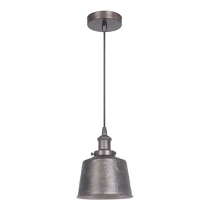 Natural Iron and Vintage Iron 7-Inch One-Light Mini Pendant