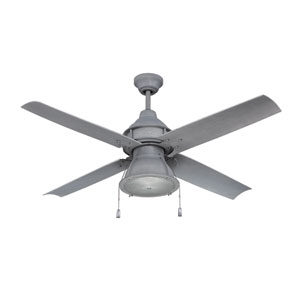 Port Arbor Aged Galvanized LED Ceiling Fan