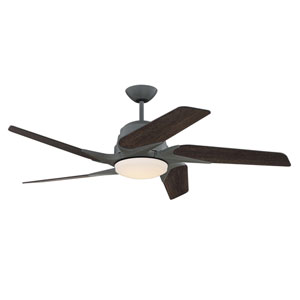 Solo Encore Aged Galvanized 54-Inch LED Ceiling Fan with Five Blades