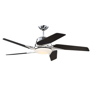 Solo Encore Chrome 54-Inch LED Ceiling Fan with Five Blades