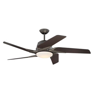 Solo Encore Espresso 54-Inch LED Ceiling Fan with Five Blades
