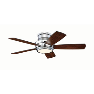 Tempo Chrome 44-Inch LED Ceiling Fan with Five Blades