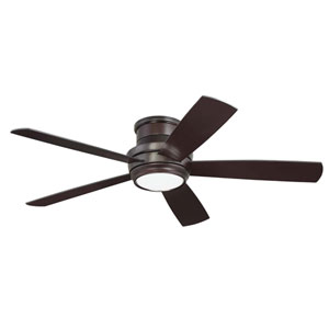 Tempo Oiled Bronze 52-Inch LED Ceiling Fan with Five Blades