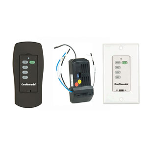 Black Universal Remote and Wall Fan Control