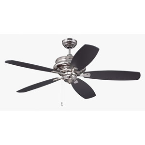 Yorktown Polished Nickel Fifty-Two-Inch Ceiling Fan