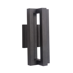 Kai Matte Black 6-Inch Outdoor LED Outdoor Wall Mount