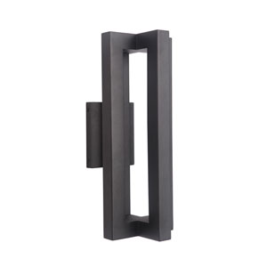 Kai Matte Black 7-Inch Outdoor LED Outdoor Wall Mount