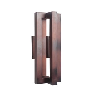 Kai Aged Copper 7-Inch Outdoor LED Outdoor Wall Mount