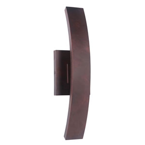 Arcus Aged Copper 6-Inch Outdoor LED Pocket Sconce