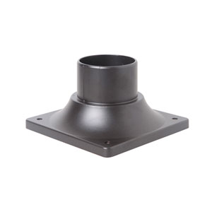 Oiled Bronze 6-Inch Outdoor Post Head Adapter