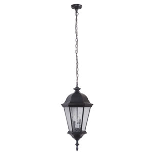 Chadwick Oiled Bronze Gilded 11-Inch Three-Light Outdoor Pendant