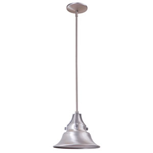 Union Satin Aluminum 8-Inch One-Light Outdoor Pendant