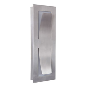 Enzo Satin Aluminum 14-Inch Outdoor LED Pocket Sconce