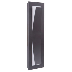 Enzo Midnight 18-Inch Outdoor LED Pocket Sconce