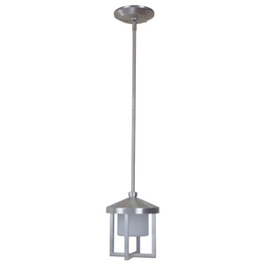 Alta Satin Aluminum 8-Inch LED Outdoor Pendant