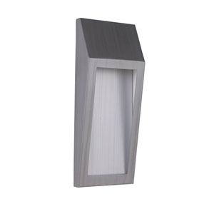 Wedge Brushed Aluminum 15-Inch Outdoor LED Pocket Sconce