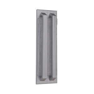 Lux Brushed Aluminum 5-Inch Outdoor LED Pocket Sconce