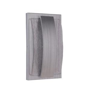 Lynk Brushed Aluminum 9-Inch Outdoor LED Pocket Sconce