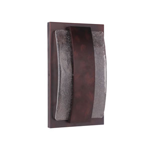 Lynk Aged Copper 9-Inch Outdoor LED Pocket Sconce