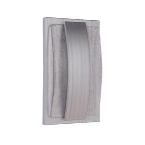 Lynk Brushed Aluminum 10-Inch Outdoor LED Pocket Sconce