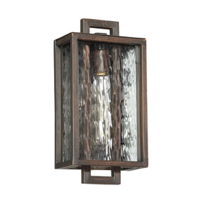 Cubic Aged Bronze Brushed 8-Inch One-Light Outdoor Pocket Sconce