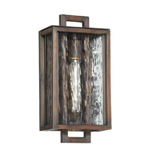 Cubic Aged Bronze Brushed 8-Inch One-Light Outdoor Wall Mount