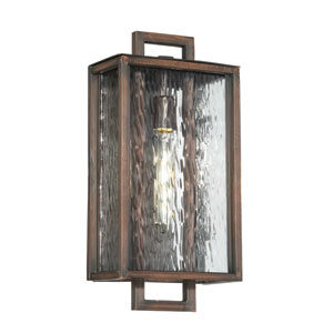 Cubic Aged Bronze Brushed 9-Inch One-Light Outdoor Wall Mount