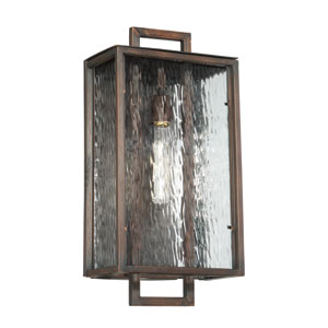 Cubic Aged Bronze Brushed 11-Inch One-Light Outdoor Wall Mount