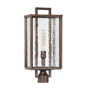 Cubic Aged Bronze Brushed 10-Inch One-Light Outdoor Post Mount