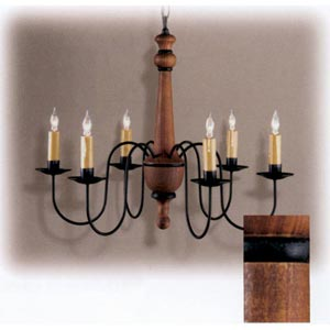 Queen Anne Cherry Wood Chandelier